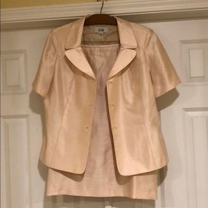 Champagne Colored Skirt Suit